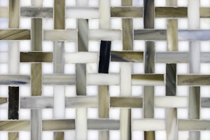 Glass Mosaic Mini-Basketweave