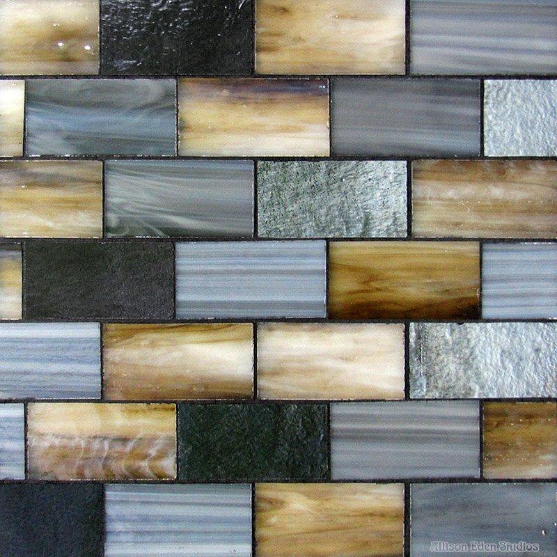 Bricks in choc-gray-gun metal