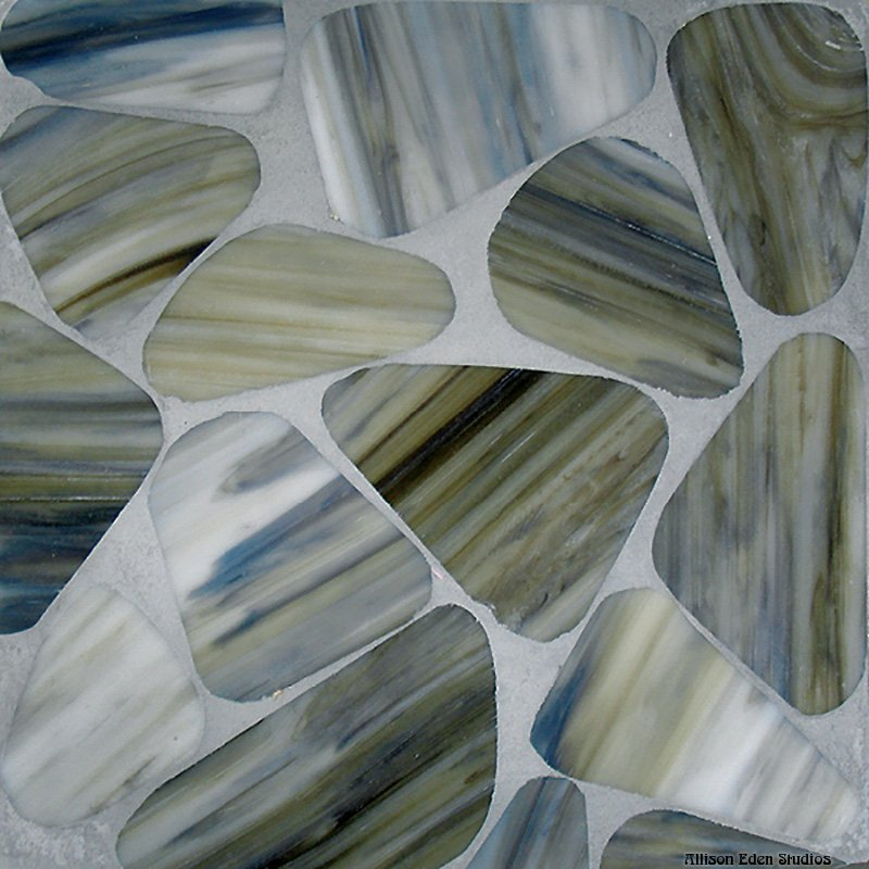 Chunky Sliced Rocks in Glass