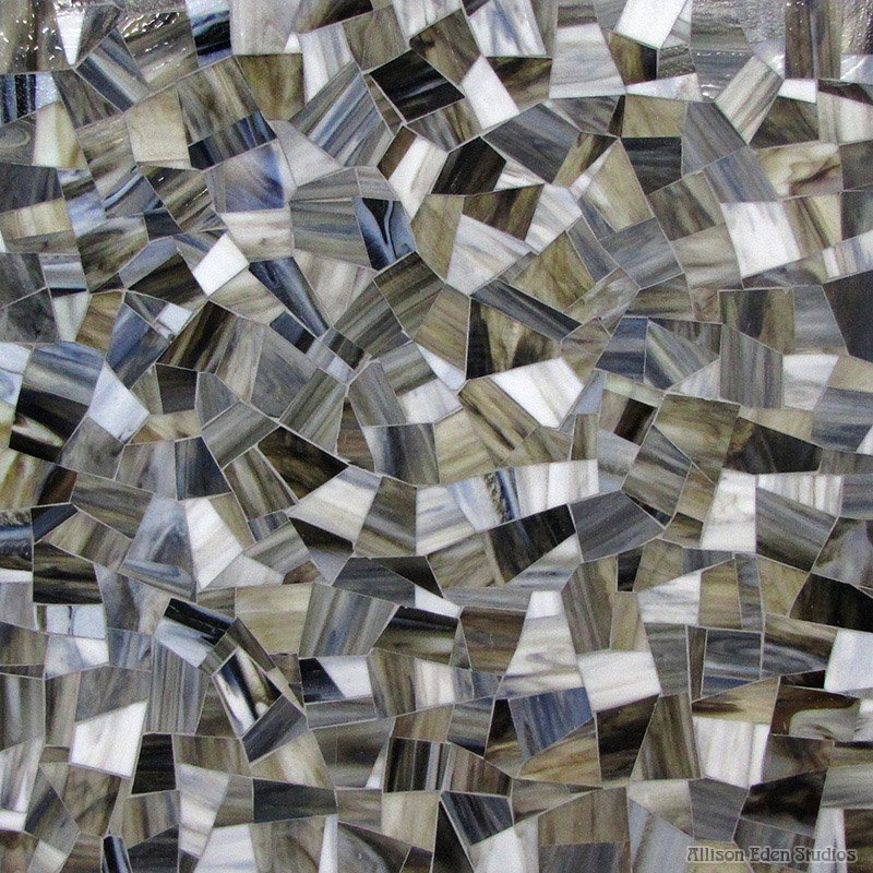 Cubic Chunky Glass Mosaic
