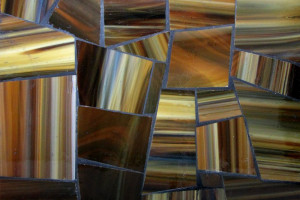 Glass mosaic Tigers Eye