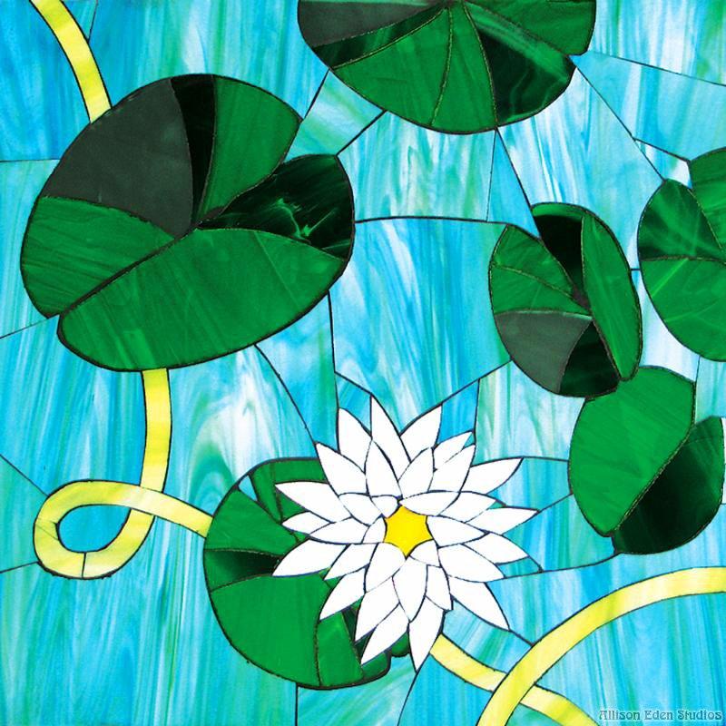 Glass Mosaic Water Lilies