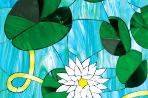 Glass Mosaic Water Lilies