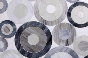 Mod Circles Glass Mosaic