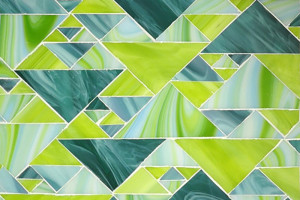 Triangles in Lime Greens