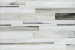 Barcode in glass calacatta