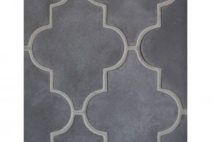 Arabesque Pattern 16 Charcoal Gray
