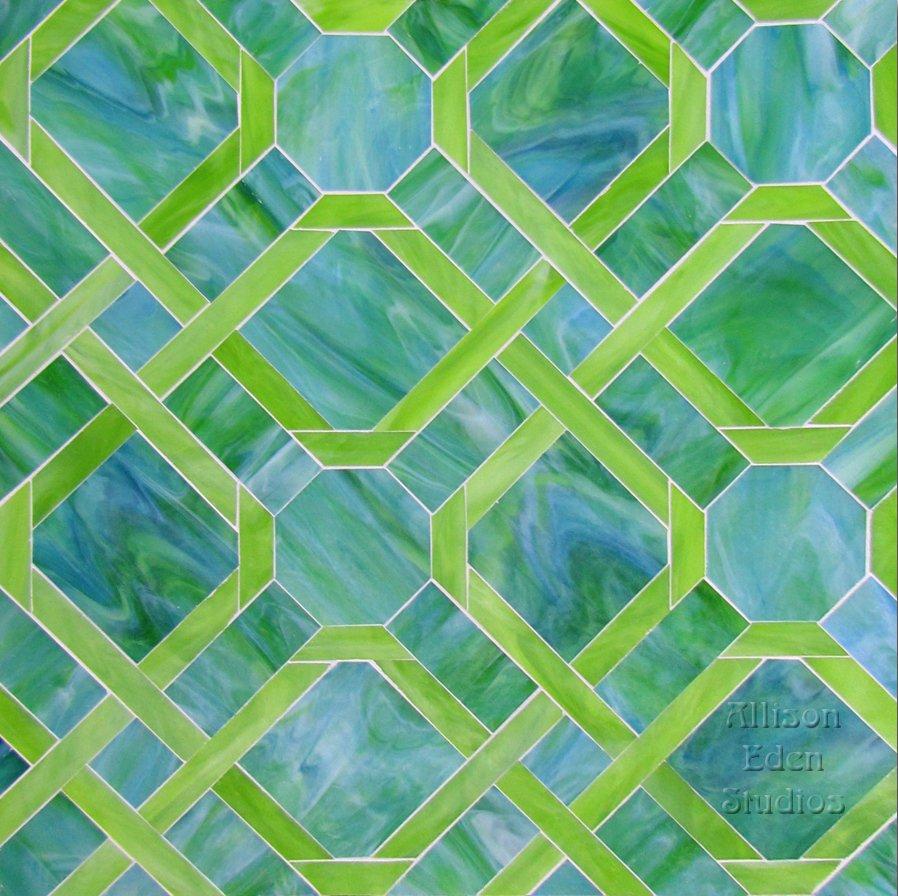 Blue & Green Parquet
