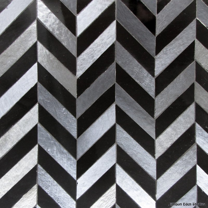 Chevron- absolute black and gunmetal