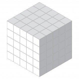 Geometric Custom Diamond Cube Large