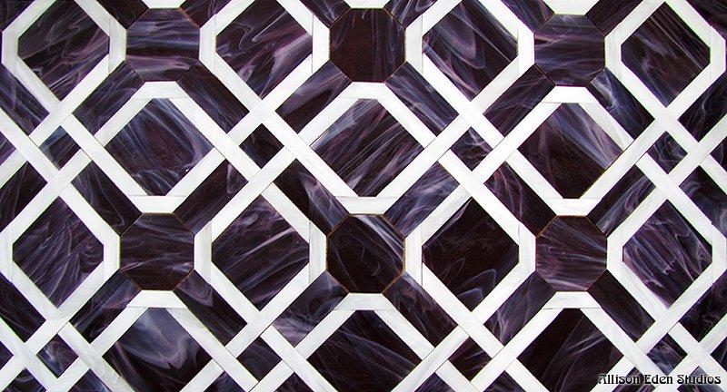 Purple Parquet Pattern