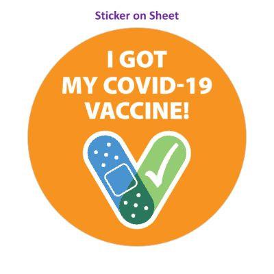 I Got My Covid 19 Vaccine Orange