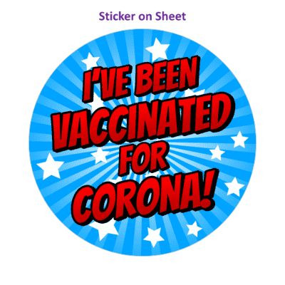 Star Burst Ive Been Vaccinated For Corona Blue Healthcare