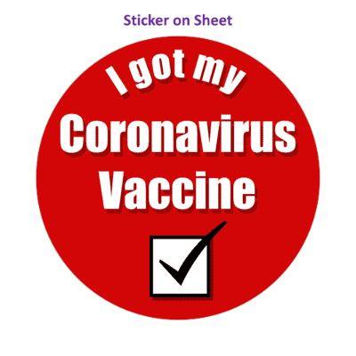 Red Checkbox I Got My Coronavirus Vaccine Hospital
