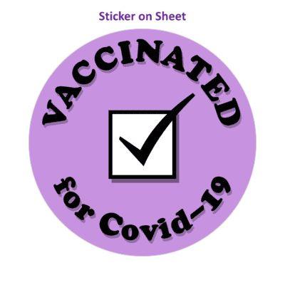 Vaccinated For Covid 19 Purple Checkbox