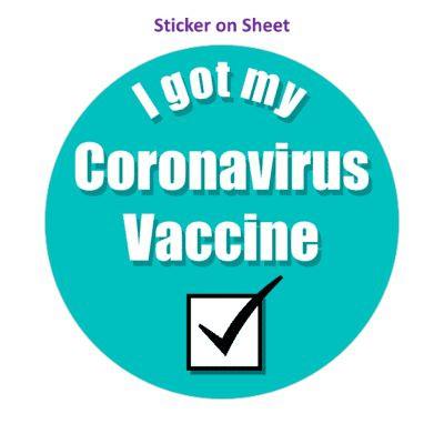 Teal Checkbox I Got My Coronavirus Vaccine Hospital