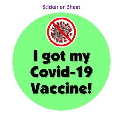 Red Slash Coronavirus I Got My Covid 19 Vaccine Green