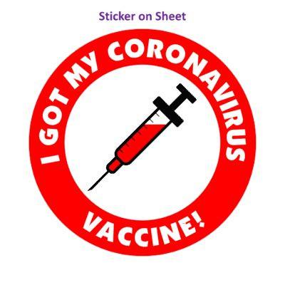 Needle I Got My Coronavirus Vaccine Red