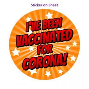 Star Burst Ive Been Vaccinated For Corona Orange