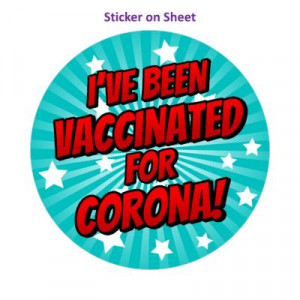 Star Burst Ive Been Vaccinated For Corona Teal Nurse
