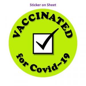 Vaccinated For Covid 19 Green Checkbox Public Health