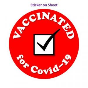 Vaccinated For Covid 19 Red Checkbox Public Health