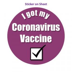 Purple Checkbox I Got My Coronavirus Vaccine Hospital