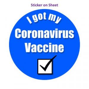 Blue Checkbox I Got My Coronavirus Vaccine Hospital