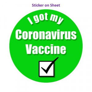 Green Checkbox I Got My Coronavirus Vaccine Hospital
