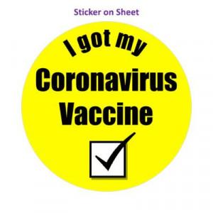 Yellow Checkbox I Got My Coronavirus Vaccine