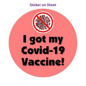 Red Slash Coronavirus I Got My Covid 19 Vaccine Pink