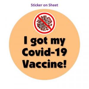 Red Slash Coronavirus I Got My Covid 19 Vaccine Peach