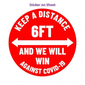 Keep A Distance 6ft And We Will Win Against Covid-19 Red Arrows