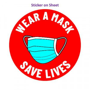 Wear A Mask Save Lives Bright Red
