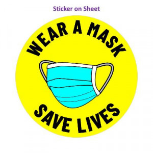 Wear A Mask Save Lives Yellow Bright