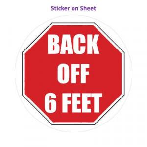 Stopsign Back Off 6 Ft