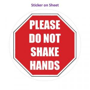 Stopsign Please Do Not Shake Hands