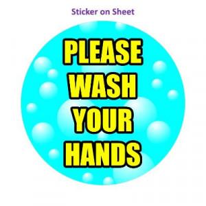 Bubbles Please Wash Your Hands