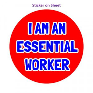 I Am An Essential Worker Red