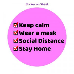 Keep Calm Wear A Mask Social Distance Stay Home Magenta Checkbox