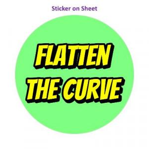 Flatten The Curve Pastel Green