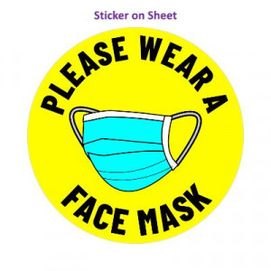 Please Wear A Face Mask Yellow Bright