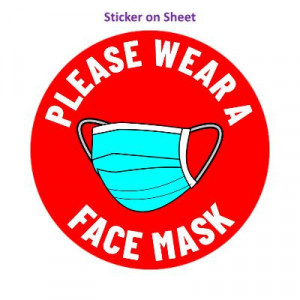 Please Wear A Face Mask Red