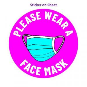 Please Wear A Face Mask Magenta