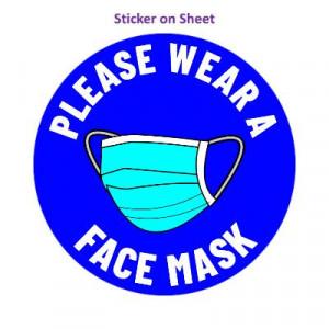 Please Wear A Face Mask Blue