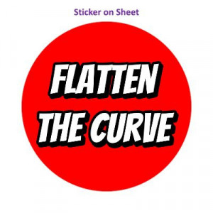 Flatten The Curve Bright Red