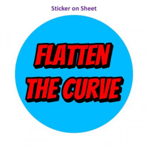 Flatten The Curve Medium Light Blue
