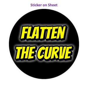 Flatten The Curve Black Shadow