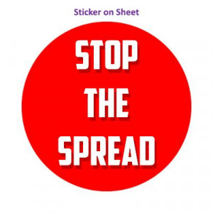 Stop The Spread Bright Red
