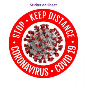 Stop Keep Distance Coronavirus Covid 19 Red
